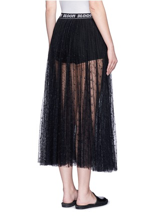 Back View - Click To Enlarge - Chictopia - Logo waistband floral lace midi skirt