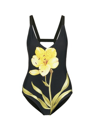 Main View - Click To Enlarge - Chictopia - Lily floral print one-piece swimsuit