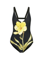 Lily floral print one-piece swimsuit