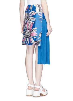 Back View - Click To Enlarge - Chictopia - Asymmetric accordion pleat floral print skirt