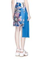 Asymmetric accordion pleat floral print skirt