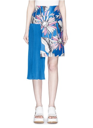 Main View - Click To Enlarge - Chictopia - Asymmetric accordion pleat floral print skirt