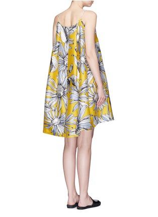 Back View - Click To Enlarge - Chictopia - Floral print appliqué silk-cotton halterneck dress