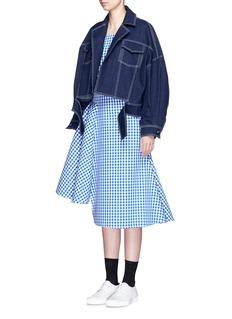 SHUSHU/TONGCropped oversize denim jacket