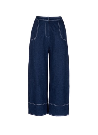 Main View - Click To Enlarge - Shushu/Tong - Cropped wide leg jeans