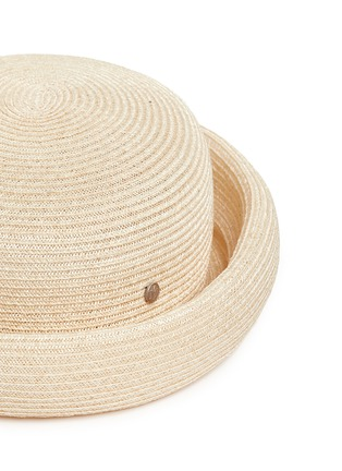 Detail View - Click To Enlarge - Maison Michel - Logo pin canapa straw beret hat