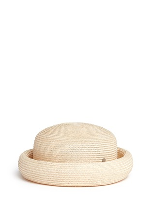 Main View - Click To Enlarge - Maison Michel - Logo pin canapa straw beret hat