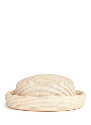 Figure View - Click To Enlarge - Maison Michel - Logo pin canapa straw beret hat