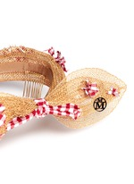 'Franziska' check appliqué bow straw headband