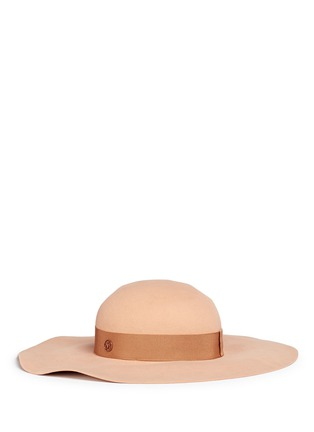 Maison Michel - 'Lucia' rabbit furfelt wide brim floppy hat