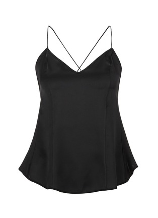 Main View - Click To Enlarge - Kiki De Montparnasse - 'Amour' open back crossover silk camisole