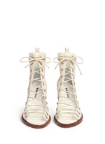 'Anthem' leather lace-up sandal boots