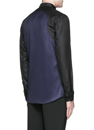 Back View - Click To Enlarge - Alexander McQueen - Contrast sleeve Oxford shirt