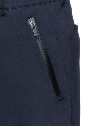 细节 - 点击放大 - ALEXANDER MCQUEEN - 拉链裤脚纯棉休闲裤