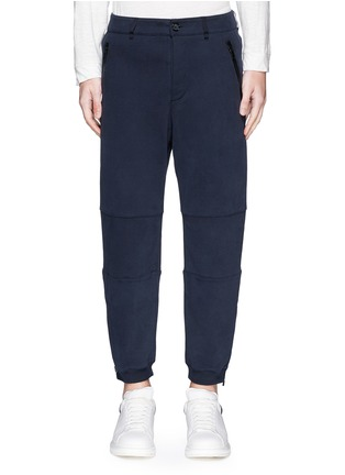 Main View - Click To Enlarge - Alexander McQueen - Zip cuff organic cotton sweatpants