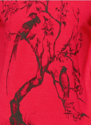 Detail View - Click To Enlarge - Alexander McQueen - Tree print wool-silk sweater