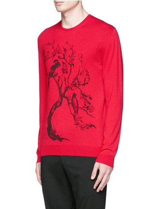 Front View - Click To Enlarge - Alexander McQueen - Tree print wool-silk sweater