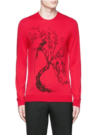 Main View - Click To Enlarge - Alexander McQueen - Tree print wool-silk sweater