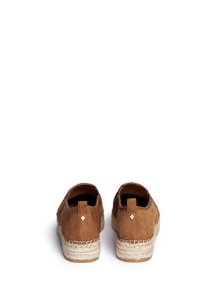 Back View - Click To Enlarge - Sam Edelman - 'Carrin' suede flatform espadrilles