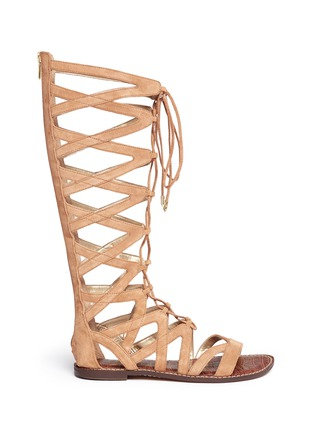 Main View - Click To Enlarge - Sam Edelman - 'Gena' lace-up suede gladiator sandals