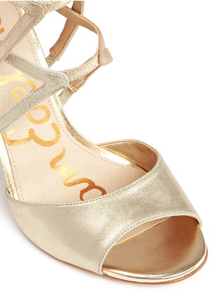 Detail View - Click To Enlarge - Sam Edelman - 'Aeryn' metallic leather strappy sandals