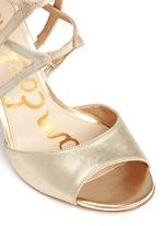 'Aeryn' metallic leather strappy sandals