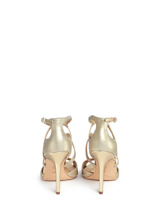 Back View - Click To Enlarge - Sam Edelman - 'Aeryn' metallic leather strappy sandals