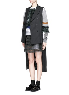 TOGA ARCHIVES Double breasted wool blend cutout sleeveless coat