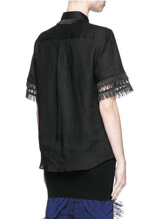 TOGA ARCHIVES - Fringe linen shirt