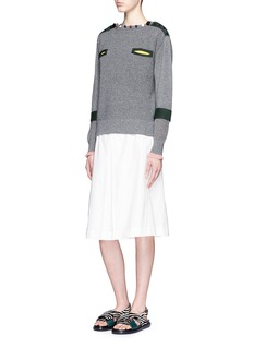 TOGA ARCHIVESStepped sleeve cotton knit sweater