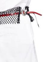 Mesh waist cotton taffeta culottes