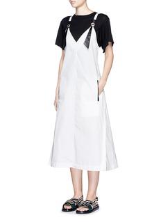 TOGA ARCHIVESCross back cotton taffeta dress