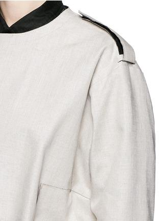 细节 - 点击放大 - TOGA ARCHIVES - 缺口设计亚麻大衣