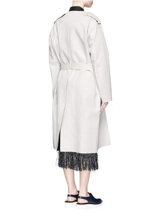 背面 - 点击放大 - TOGA ARCHIVES - 缺口设计亚麻大衣