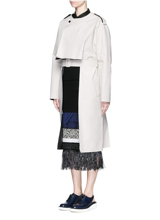 TOGA ARCHIVES-Cutout high-low linen trench coat