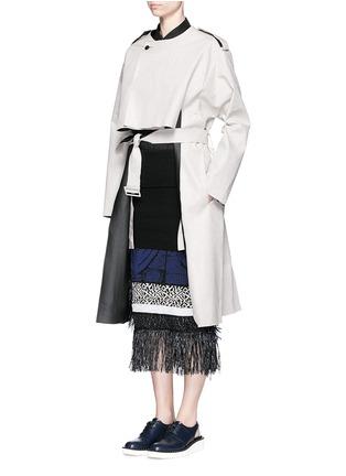 模特儿示范图 - 点击放大 - TOGA ARCHIVES - 缺口设计亚麻大衣