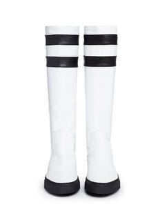 EUGÈNE RICONNEAUS'E-Mid' contrast stripe leather sneaker boots