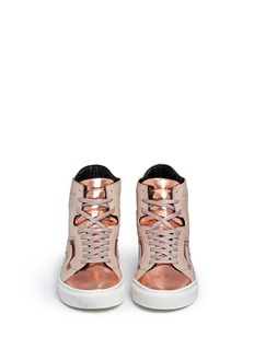 EUGÈNE RICONNEAUS'Nicole' mirror leather combo high top sneakers