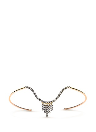 Yannis Sergakis Adornments - 'Charnières' diamond 18k gold arm cuff