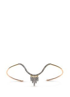 Yannis Sergakis Adornments'Charnières' diamond 18k gold arm cuff