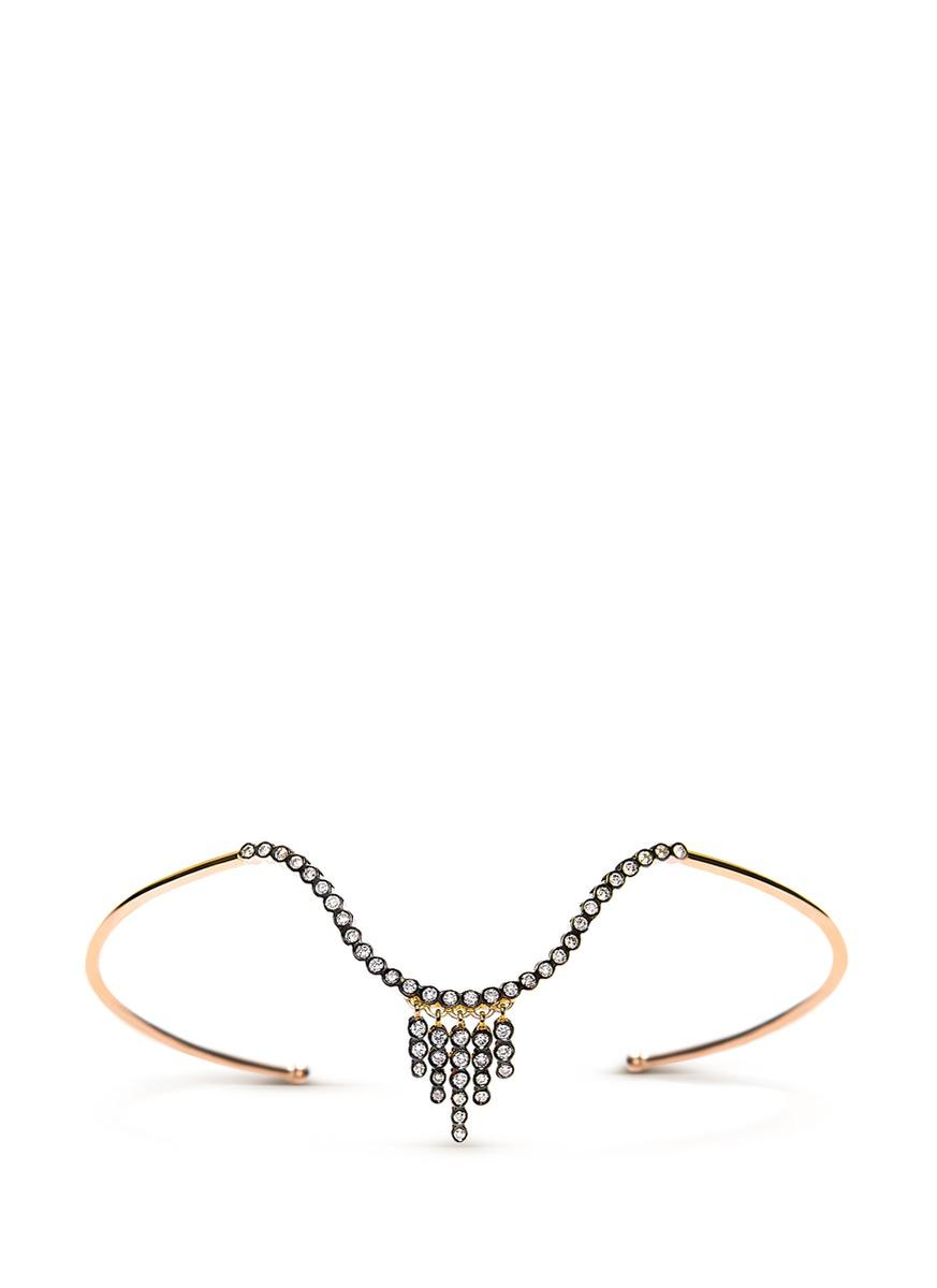 Charnières diamond 18k gold arm cuff by Yannis Sergakis Adornments