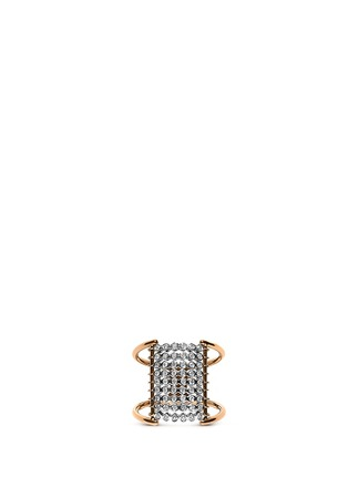 Main View - Click To Enlarge - Yannis Sergakis Adornments - 'Charnières' diamond 18k gold 9 tier ring