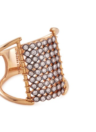 Detail View - Click To Enlarge - Yannis Sergakis Adornments - 'Charnières' diamond 18k gold 9 row ring