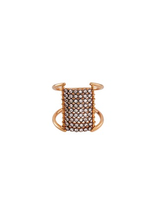 Main View - Click To Enlarge - Yannis Sergakis Adornments - 'Charnières' diamond 18k gold 9 row ring