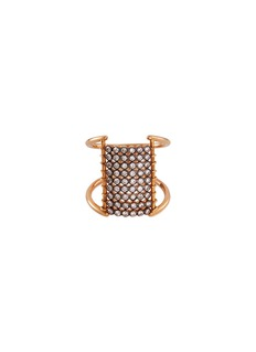 Yannis Sergakis Adornments 'Charnières' diamond 18k gold 9 tier ring