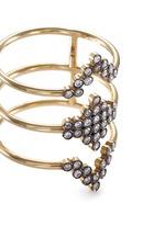 'Charnières' diamond 18k gold triple band ring