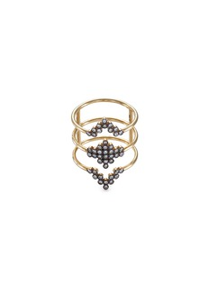 Yannis Sergakis Adornments 'Charnières' diamond 18k gold triple band ring
