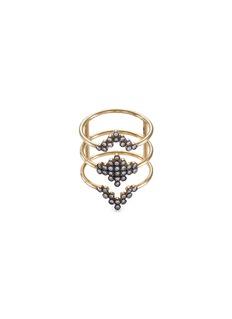 Yannis Sergakis Adornments'Charnières' diamond 18k gold triple band ring