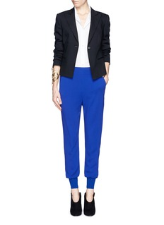 MCQ ALEXANDER MCQUEEN Pleated back peplum peak lapel jacket