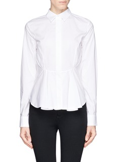 MCQ ALEXANDER MCQUEENCotton poplin peplum shirt